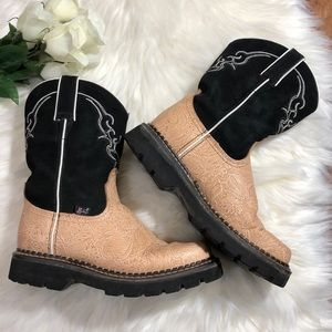 Justin cowgirl leather boots
